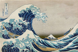 The Great Wave off Kanagawa, Hokusai, 1832.